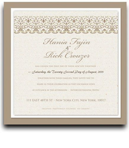 160 Square Wedding Invitations - Ornamental Horizons by WeddingPaperMasters.com. $419.20. Now you can have it all! We have created, at incredible prices & outstanding quality, more than 300 gorgeous collections consisting of over 6000 beautiful pieces that are perfectly coordinated together to capture your vision without compromise. No more mixing and matching or having to compromise your look. We can provide you with one piece or an entire collection in a one stop shopping ex...