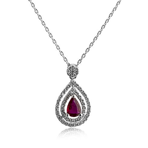 #cadoupentrutotdeauna  #CORIOLAN Lantisor cu pandantiv cu rubine si diamante C500
