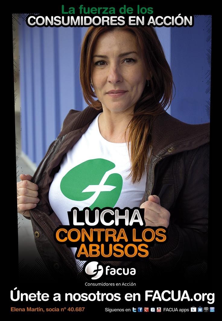 Elena Martín, socia de FACUA nº 40.687, llama a los consumidores a la lucha contra los abusos