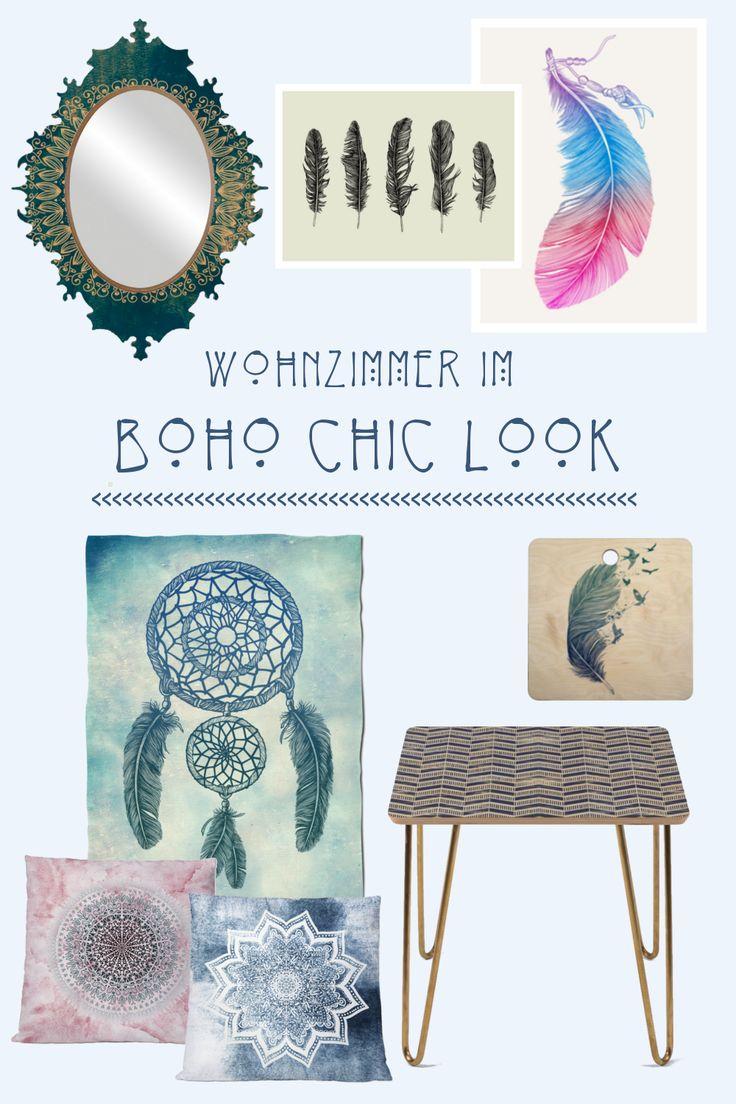 Boho Chic im Wohnzimmer #HelloSunady #Blogpost #Blog #Boho #Einrichtung #Bohochic #Bohemian #Boheme #Wohnzimmer #Interior #Blogbeitrag #Inspiration #einrichten #Fleecedecke #Tisch #Schneidebretter #Kissen #Spiegel #Poster #Boho #Chic #Look #Zuhause