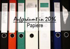 Das Aufräumfest 2016 geht in die 3. Woche! In dieser Woche geht es um Papiere, Unterlagen, Akten. Es wird sortiert und geschreddert, was das Papier hergibt! ;) Alle Tipps dazu gibt es in aktuellen Blogbeitrag...