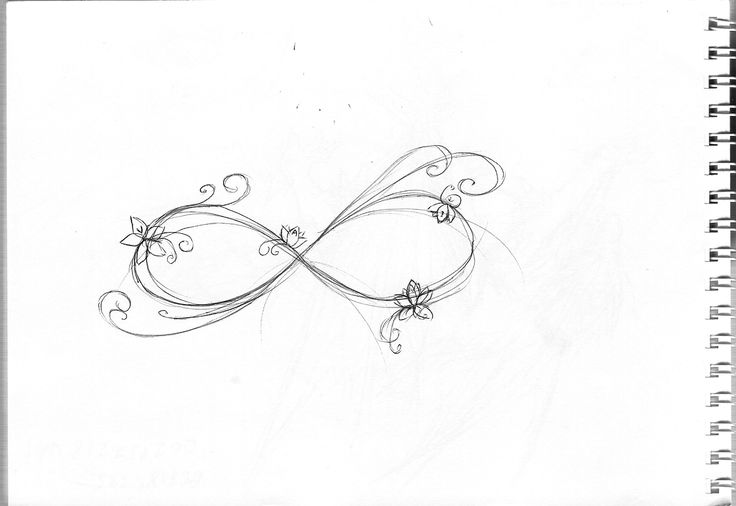 Friends infinity tattoo idea - with colour.