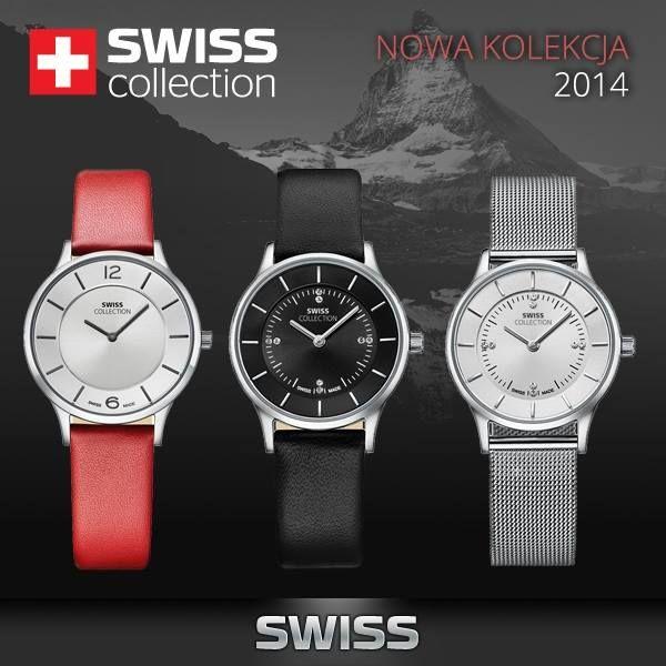 SWISS collection – po raz pierwszy na polskim rynku!  Zegarki SWISS collection to kwintesencja niezawodnej jakości. Szwajcarska produkcja to przede wszystkim konsekwencja w działaniu, materiały najwyższej jakości, oraz zaawansowana technologia, a dzięki subtelnemu połączeniu klasyki z najnowszymi trendami, zegarki SWISS collection charakteryzują się nowoczesną elegancją, która idealnie trafia w gusta najbardziej wymagających klientów.