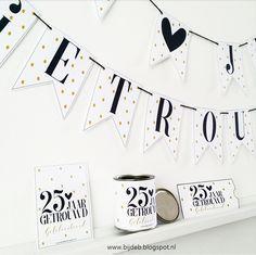 bijdeb: 25 jaar getrouwd feest pakket...