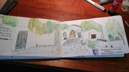 my travel journal. Summer 2015. Patmos island, Greece. Chora