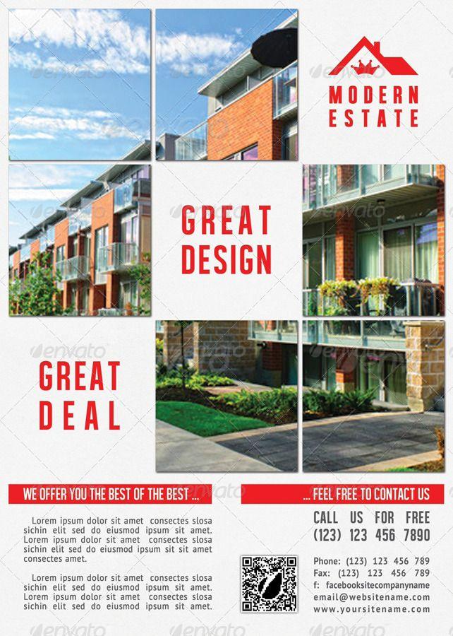 Modern Real Estate Flyer Template 30