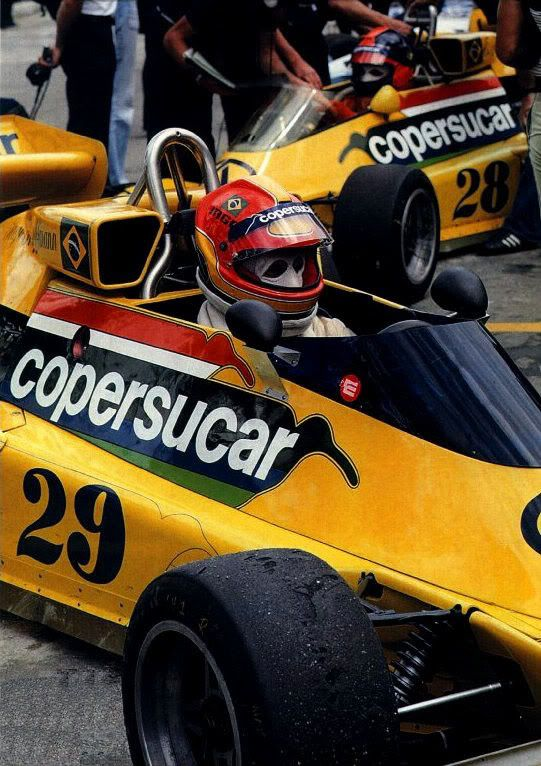 Interlagos '77 - Ingo Hoffman and Emerson Fittipaldi (behind)