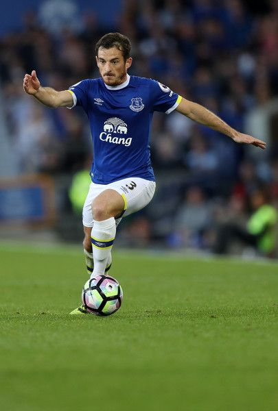 Leighton Baines of Everton during the Premier League match between Everton and…