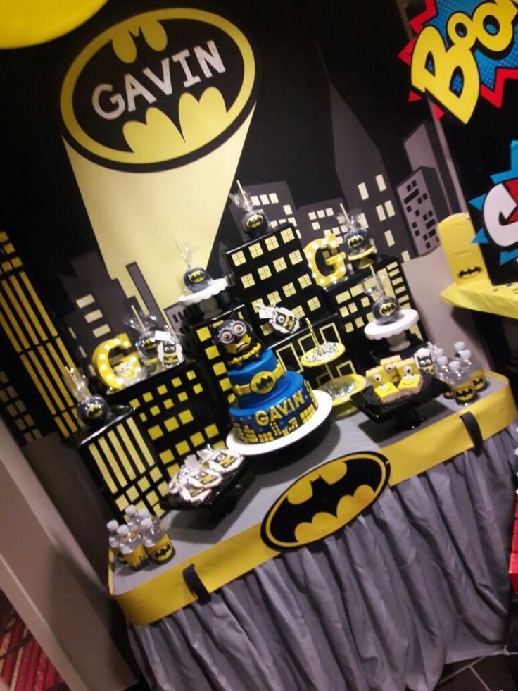 Batman minion birthday party