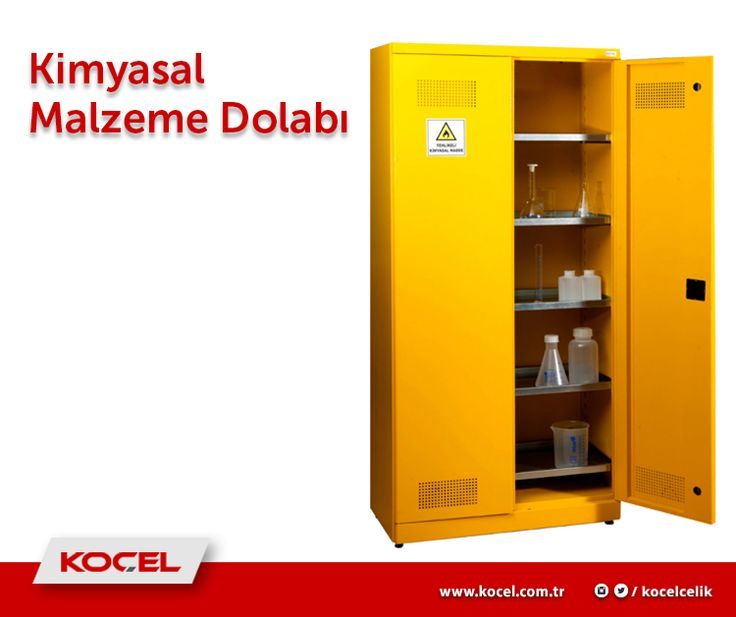 Türkiye'nin en güvenlikli kimyasal malzeme dolapları, kimyasal malzeme ve ürünlerinizin depolanmasına uygun şekilde geliştirilmiş ve kolay erişim sağlayacak şekilde dizayn edilmiştir. Koçel Çelik kimyasal malzeme dolaplarımızı incelemek için www.kocel.com.tr adresimizi ziyaret edebilirsiniz. Bilgi için --> http://bit.ly/1THkJ9G #koçelçelik #çelikeşya #toparlayançözümler #kalite #düzen #kimyasalmalzemedolabı