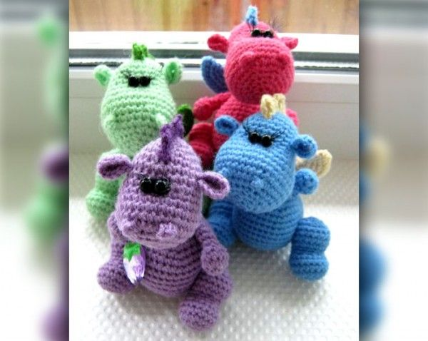 Fierce Little Dragon Amigurumi Pattern : 17 Best images about crochet only free, dragon and dino on ...