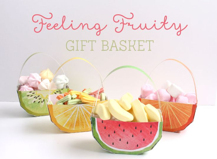 We're feeling fruity! Our deliciously fruity, free printable gift baskets are the cutest way to spoil your party guests. Simply download, print, create then fill up with your favourite treats!