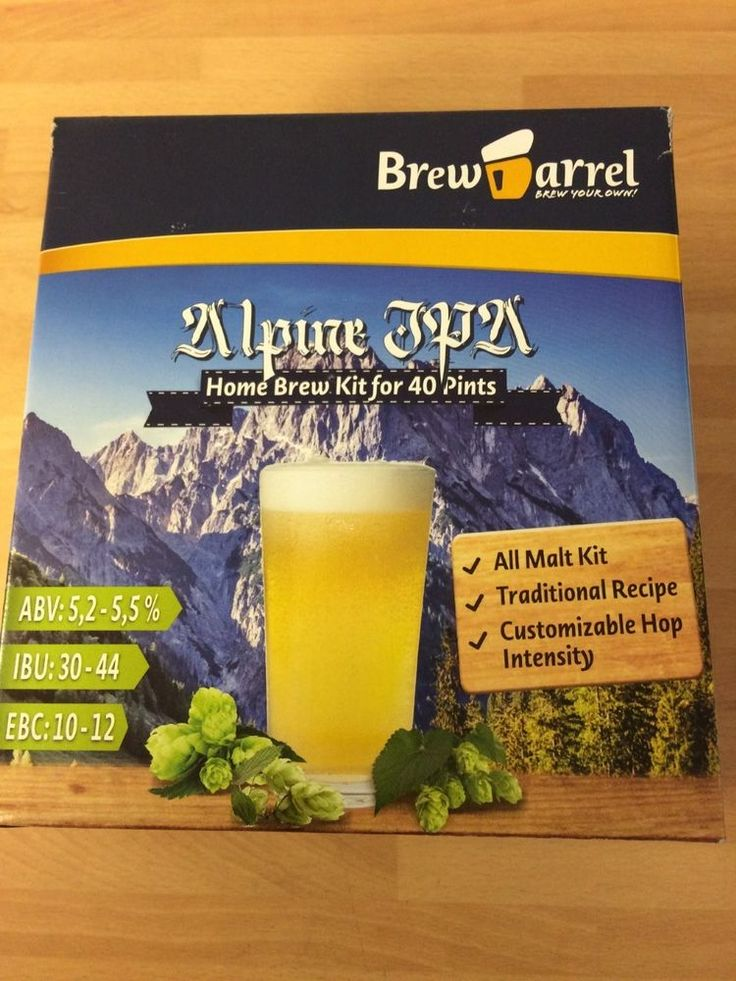 BREW BARREL ALPINE I.P.A. KIT 5.2 - 5.5 % ABV MAKES 40 PINTS