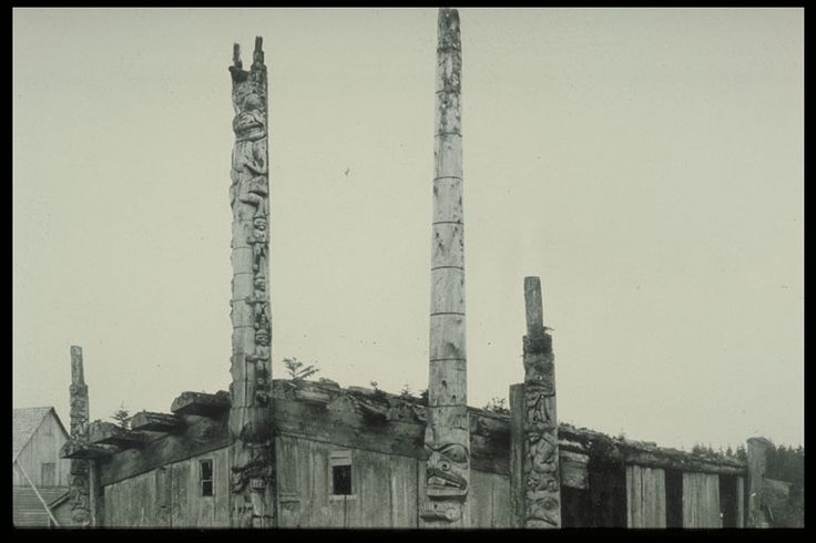Chief Wiah's [Weah] House. Massett, Haida Gwaii. Author George A. Dorsey or E.P. Allen?