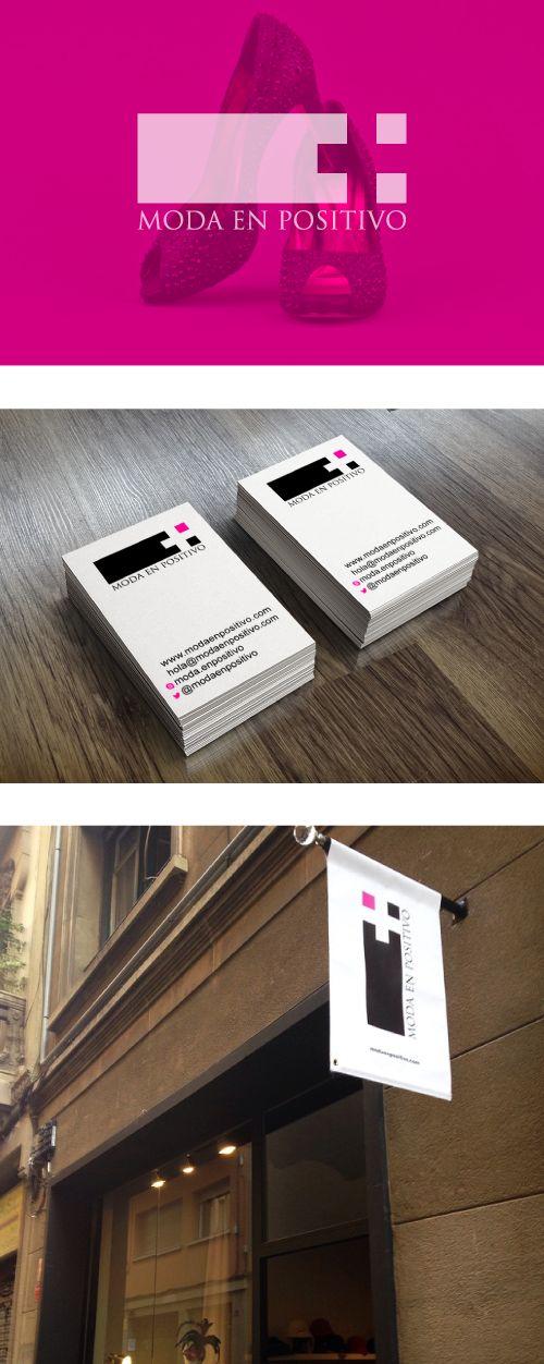 Moda en Positivo  www.estudio201.com Diseño de identidad: logotipo, tarjetas de presentación, banners digitales. Dirección artística: composición de piezas gráficas. España