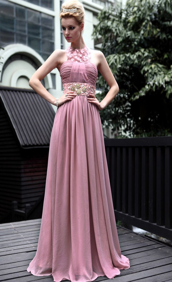 A-line-Natural-Waist-With-Beading-Chiffon-Evening-Gowns-