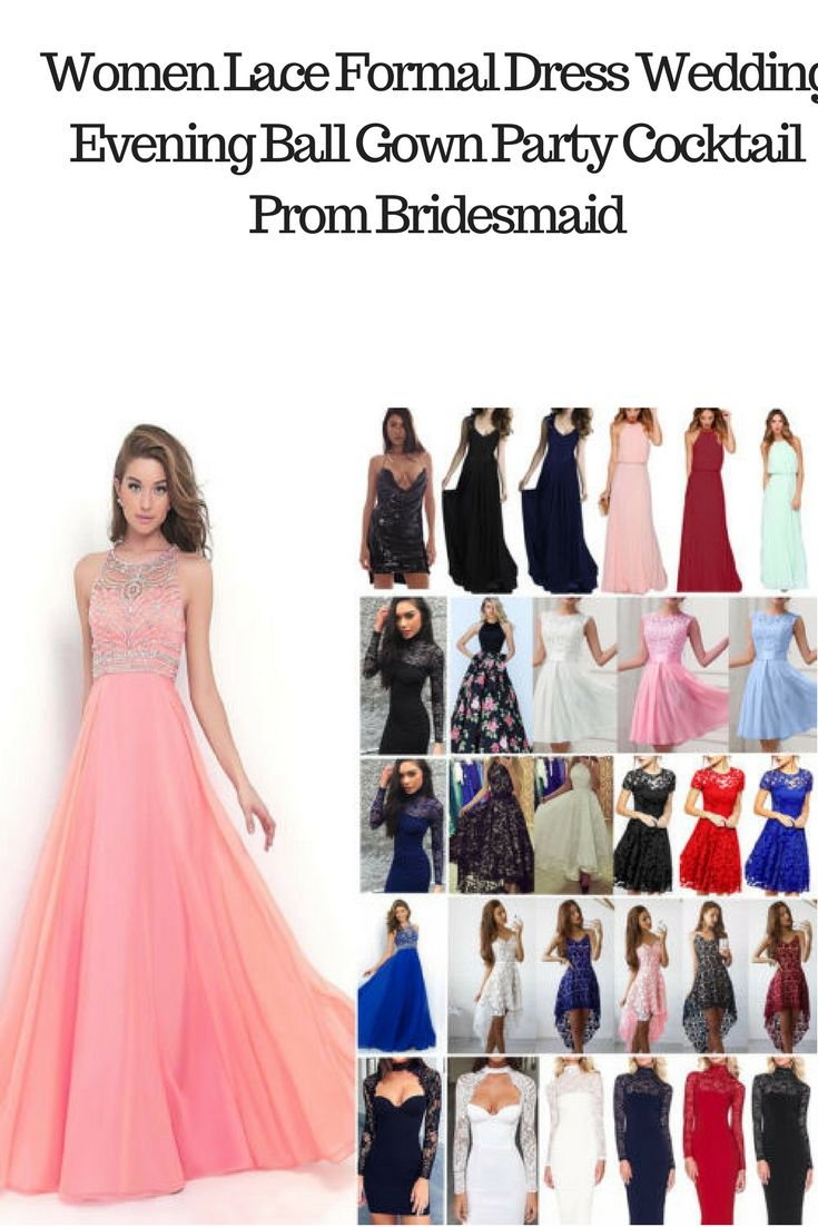 3fe2302245e Women s Long Lace Evening Formal Cocktail Party Ball Gown Bridesmaid Maxi  Dress Great range of colours and sizes