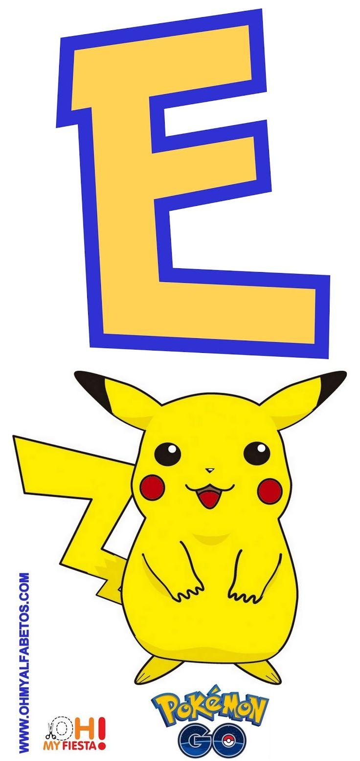 Alfabeto de Pikachu de Pokemon Go Gratis.