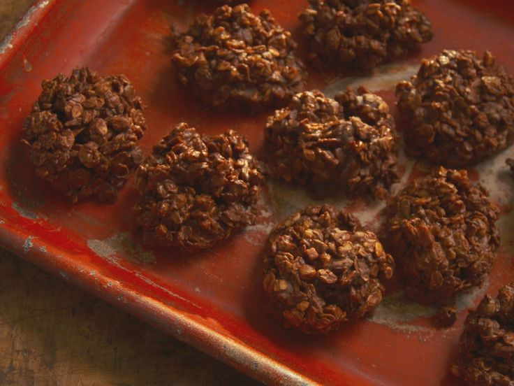 Chocolate Toffee No-Bake Cookies recipe from Nancy Fuller via Food Network