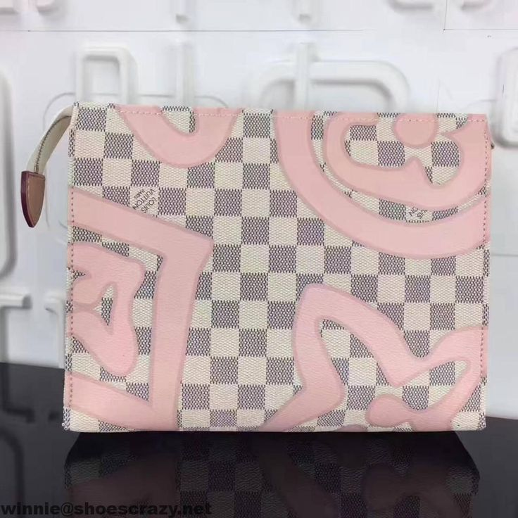 Louis Vuitton Damier Azur Canvas Toiletry Pouch 26 N41049 Tahitienne Summer 2017