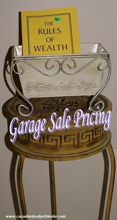 How To Price Garage Sale Items - has some good ideas.