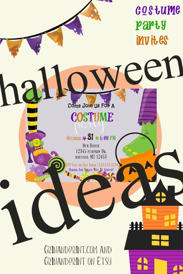 costume party invitation kids halloween invitations costume