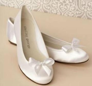 Свадебная обувь без каблука