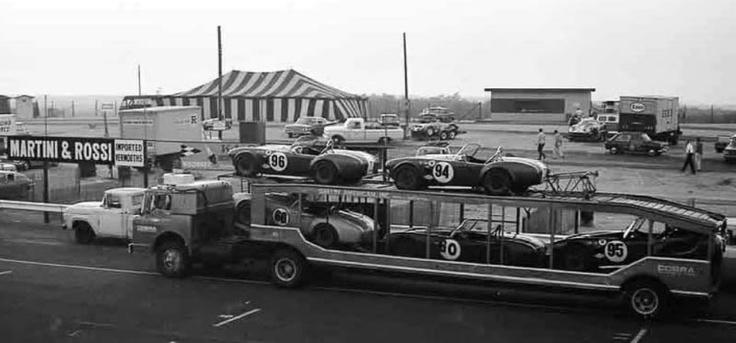 Racing cars autos carrier cars hauler vintage racing team