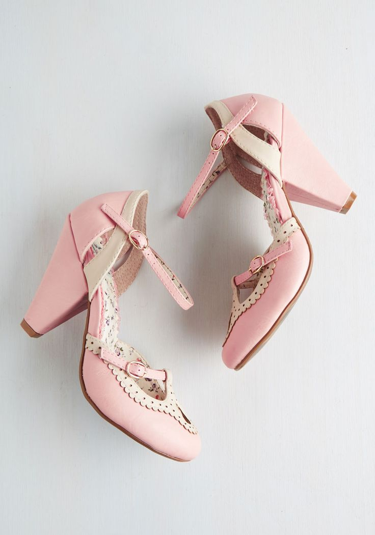 Triple Your Fancy Heel in Bubblegum | Mod Retro Vintage Heels | ModCloth.com
