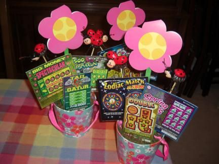 182 best giftsbaskets images on pinterest gift ideas handmade cheap gift basket idea things to do with lottery tickets mama mama honey negle Choice Image