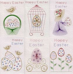 Stitching Cards Value Pack No. 67: Easter patterns.