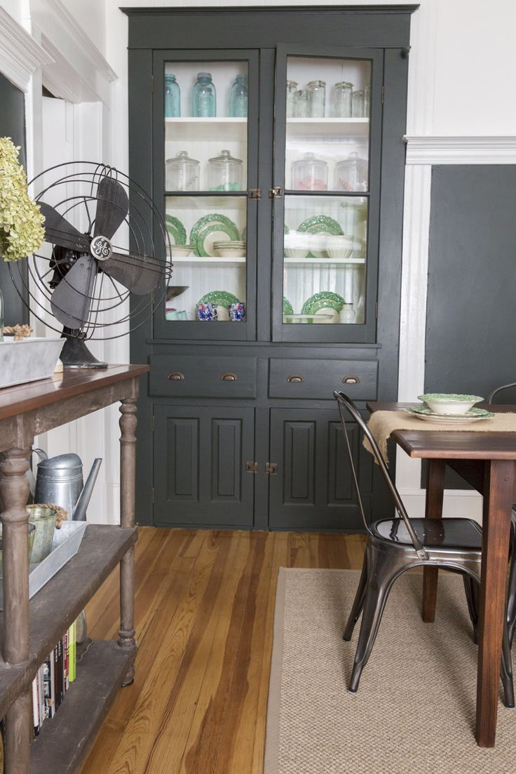 "This reader from West Virginia says that the best thing about her dining room is the ""original built-in hutch"" where she keeps pinecones for a fresh scent."