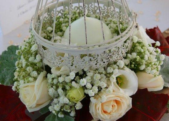 Centrotavola shabby chic per un matrimonio dallo stile romantico