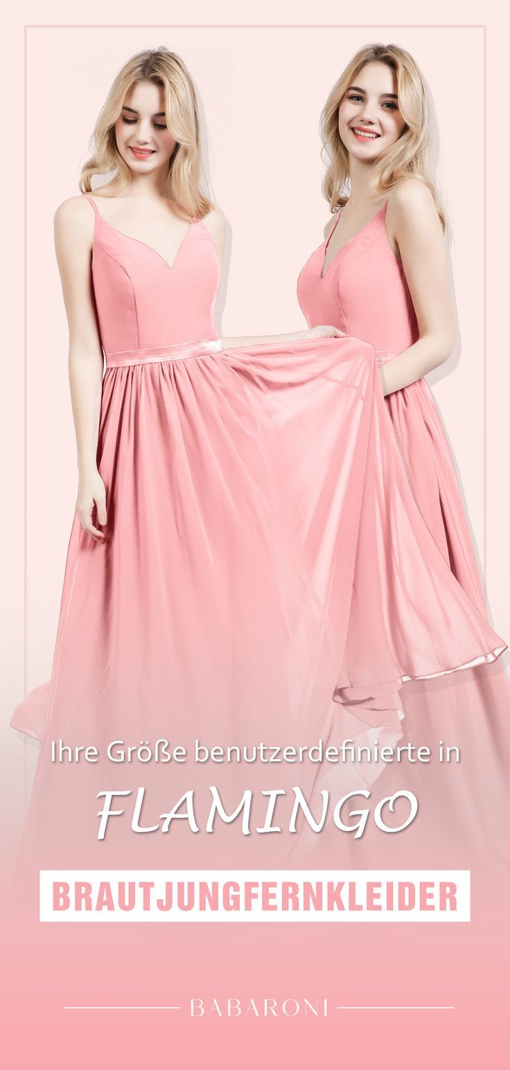 Spaghettiträger Chiffon Brautsmaid Kleid - ① Babaroni