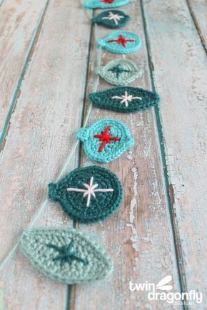 Crochet Christmas Ornament Garland