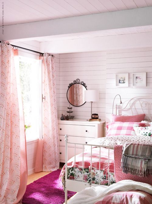 Pretty in Pink girly bedroom. 65 best Girly Bedrooms images on Pinterest   Bedroom ideas