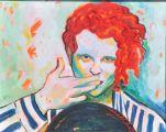 Mick Hucknall'ın Portresi,40X50 cm ,Akrilik