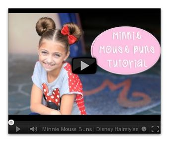 Minnie Mouse Buns | Disney HairstylesCute Girls Hairstyles | 5-Minute Hairstyle Video Tutorials - seriously cute hairstyles with  videos and pictures