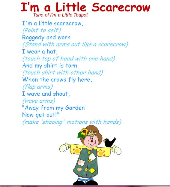 get up and dance to this fall scarecrow song - Halloween Songs For Preschoolers