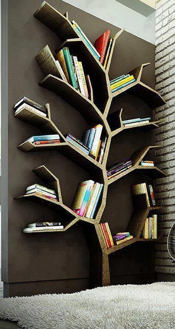 Such a cool way to keep your books organized!