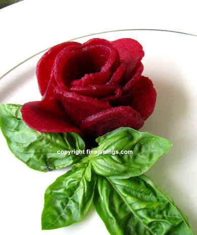 How To Make Garnishes Vegetable And Fruit Pictures Of