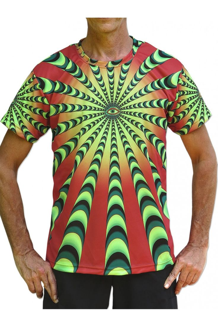 """UV Sublime S/S T : Warp Factor 50 red Fully printed short sleeve T shirt. This shirt is an """"All Over"""" printed T shirt that will really grab people's attention. The design is printed using sublimation printing on a high quality UV Yellow polyester / Dri-Fit blended shirt. This allows for extremely vibrant colors that will never fade away no matter how many times it gets washed, & results in an extremely soft """"feel"""" to the shirt for ultimate comfort. UV active -  Artwork by SpaceTribe"""