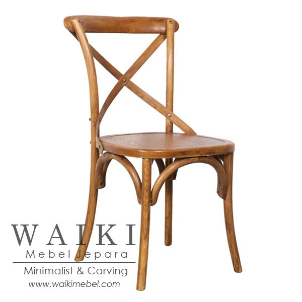 Waiki Mebel produsen kursi untuk keperluan cafe, restoran dan hotel. jual kursi cafe restoran model kursi silang crossback jati kualitas ekspor dan murah