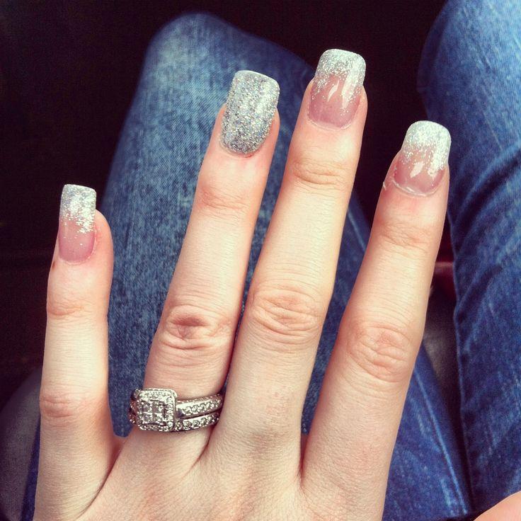 silver tips solar nails hair amp beauty pinterest