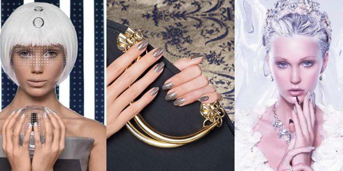 """#manicure : per le feste quali unghie sfoggereste? Brillanti? Dai colori minimal ma decisi quasi spaziali, oppure tinte intense con una manicure """"artica"""" per affrontare il grande freddo! http://www.sfilate.it/237983/le-ultime-novita-sugli-smalti-da-sfoggiare-per-le-prossime-feste"""