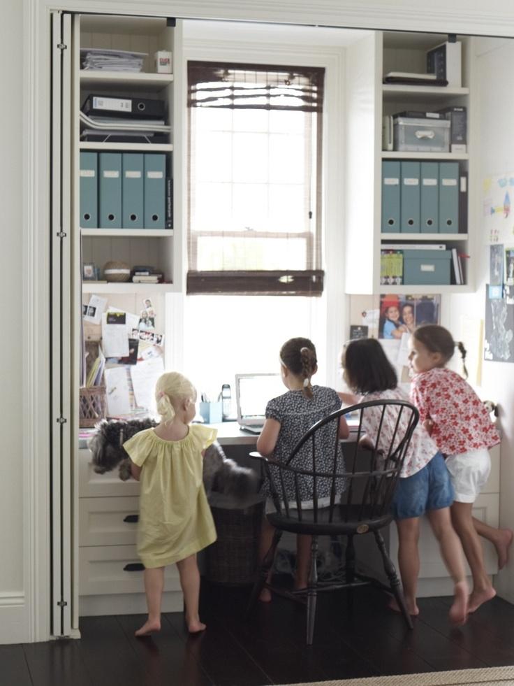 Study nook in the kitchen