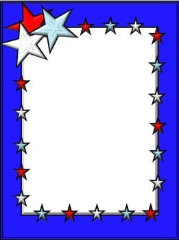 Spruce up your Memorial Day and Fourth of July activities with these patriotic frames and clip art items. These red, white, and blue designs add p...