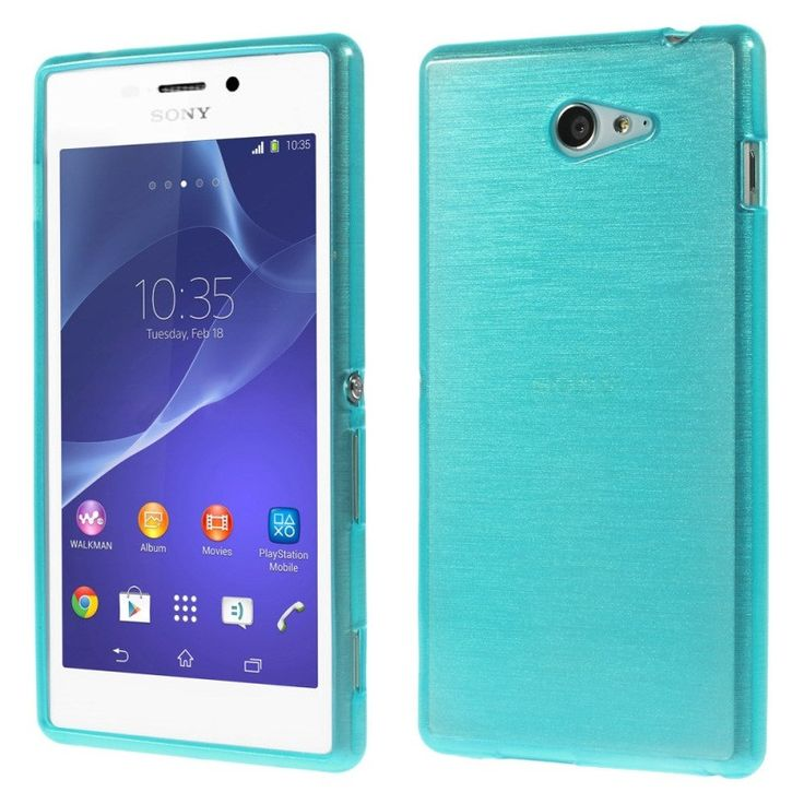 For Sony M 2 Gel Cover Brushed TPU Case for Sony Xperia M2 D2303 / M2 Dual D2302