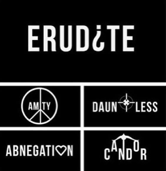 I chose this picture because it shows the five factions that are a part of Insurgent.