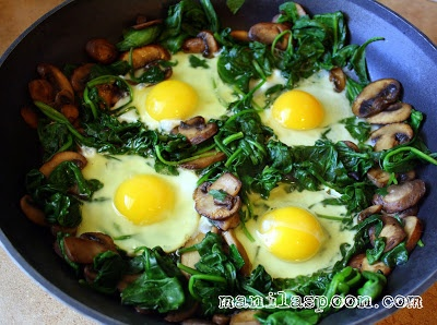 eggs spinach and mushrooms skillet spinach egg spinach and mushroom ...
